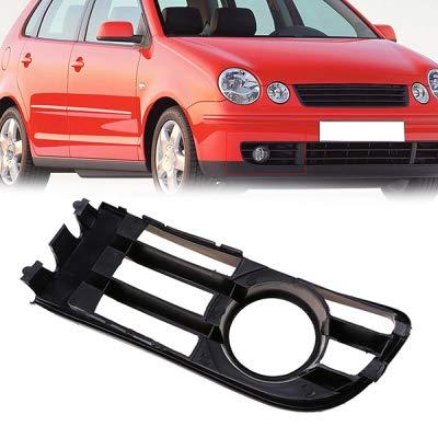Rejilla de luz antiniebla negra izquierda/derecha con orificio para VW Polo tipo 9N 2002/2003 / 2004/2005 Cubierta de luces antiniebla automáticas,1ontheright