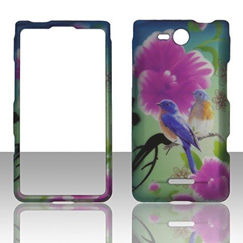 2D Twin Birds LG Lucid 4G LTE VS840Verizon Schutzhülle Cover Snap On Cover Fällen Gummierte Matte Oberfläche Hard - Lg Lucid Für Telefon Fällen Verizon