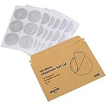 RECAPS Tapas de Espresso de aluminio para cápsulas reutilizables de Nespresso Sellos de lámina Fácil de llenar sus propias cápsulas con nuestras tapas de etiqueta 120/Paquete