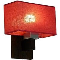 Lampada da parete–wero Design Vitoria di 016a–14varianti, lampada da parete, lampada, lampada, in legno massiccio, in legno di quercia, Legno di Quercia rosso trasparente