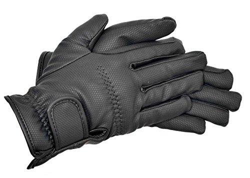 Riders Trend Thermo-Reithandschuhe aus Polyurethanleder schwarz Nero - Nero M -