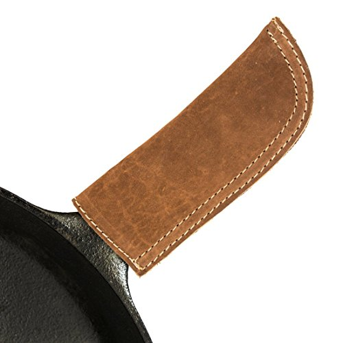Leather Hot Handle Holder (Cast Iron Panhandle Potholder) Double Layered, Double Stitched and Handmade by Hide & Drink :: Suede Panhandle Cover