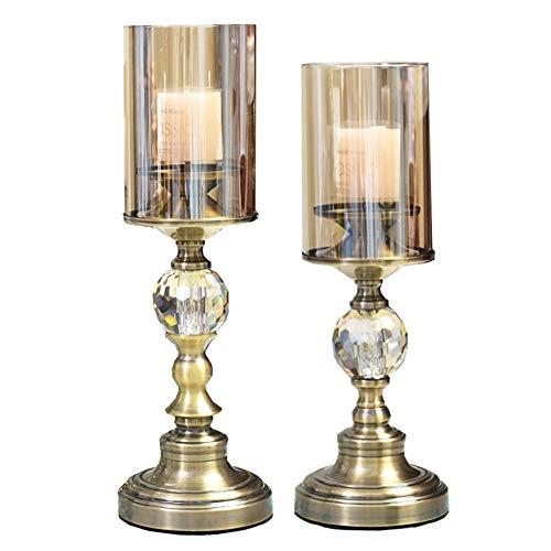 Chandeliers Bougeoir Bougeoir ensemble de 2, chandelier romantique table rétro maison, stand chandelles pour mariage/fête