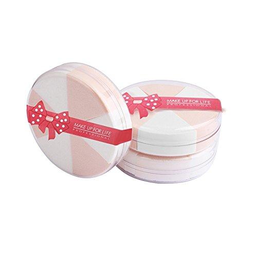 Pro Beauty Makeup Blender Éponge fond de teint, Type V Maquillage éponge sec et humide double