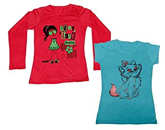 Indistar Womens combo Pack of 4(1 full Sleeves T-shirt,1 Half Sleeves T-shirt,1 Full Ankle length and 1 3/4 Legging)_Red:;Black::Blue::Red_M