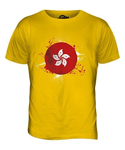 CandyMix Hongkong Fußball Herren T Shirt Dunkelgelb