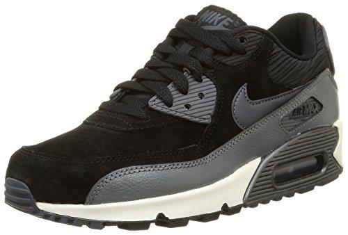 Nike Damen, Sportschuhe, wmns air max 90 lthr, schwarz