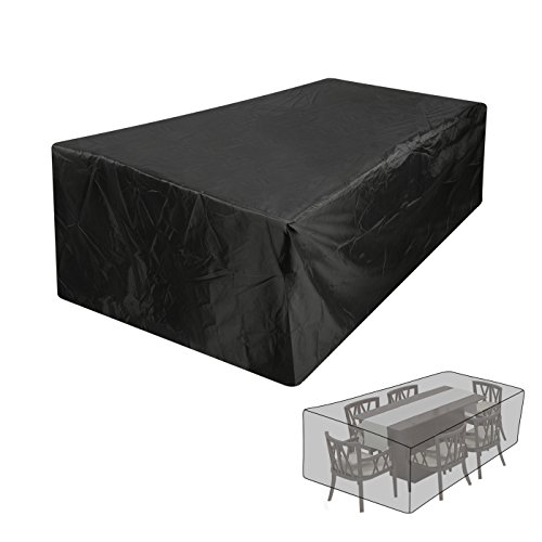 BIGWING STYLE Abdeckung Gartenmöbel Schutzhülle Gartenmöbel und Abdeckplane für rechteckige Sitzgarnituren(213*132*74CM)