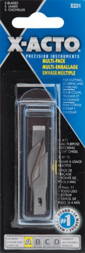 une-lame-de-precision-recharge-assortiment-5-paquet-de-type-x-acto
