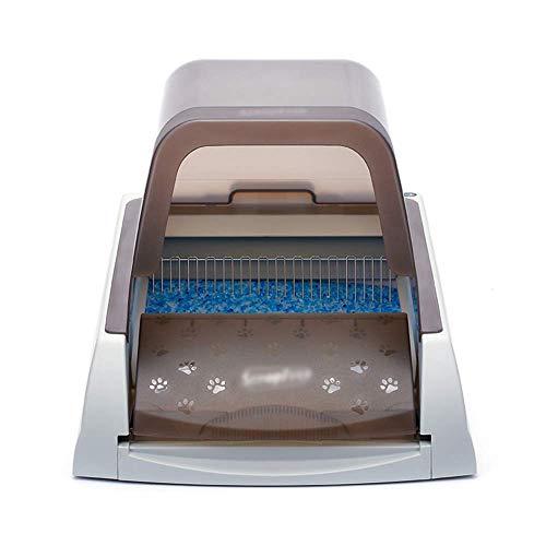 *CWY Pet Kasserolle Automatische Reinigung Intelligente Mülltonne Sicher Geschlossen Katzentoilette Katzentoilette, Taupe, 47 * 65 * 42 cm*