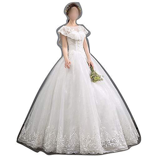 ZSRHH-Kleid Frauenkleid Dünne luxuriöse einfache 2019 schlanke Brautkleider (Size : S)