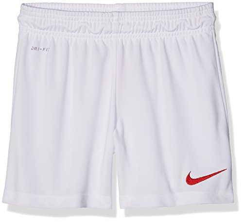 Nike Kinder Park II Knit Shorts ohne Innenslip, white/university red, M, 725988-102