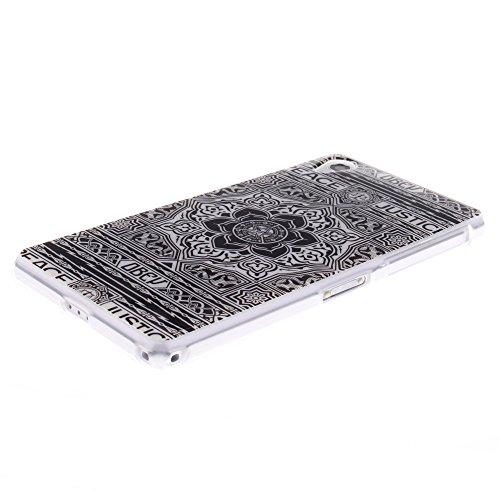Sony Xperia Z2 (SONY XPERIA Z2) hülle MCHSHOP Ultra Slim Skin Gel TPU hülle weiche Silicone Silikon Schutzhülle Case für Sony Xperia Z2 (SONY XPERIA Z2) - 1 Kostenlose Stylus (Löwenzahn sich verlieben Blumen Tribal Aztec (Flower Tribal Aztec)