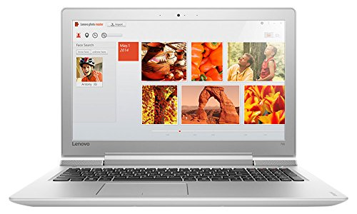 "Foto Lenovo 80RU00TNIX Portatile Ideapad 700-15ISK, Display 15.6"" FHD IPS AG, Processore I7-6700Hq, Hard Disk 1 TB, 128 GB SSD, Scheda Grafica Nvidia GTX950M 4GB DDR3, Windows 10, Bianco"