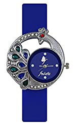 Frida Analogue Blue Dial Casual Classical Wrist Watch for Girls and Women