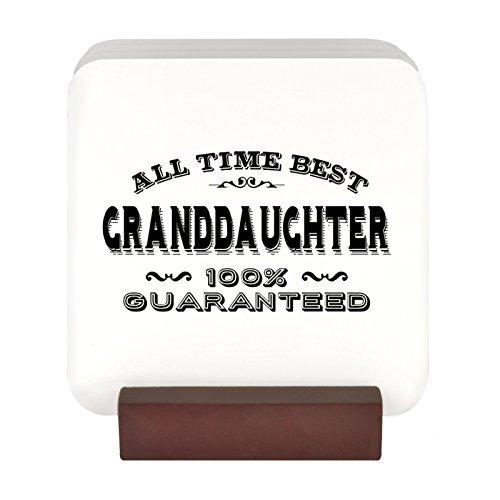 All Time Best Grand Tochter 100% garantiert Design 4Untersetzer-Set mit Ständer