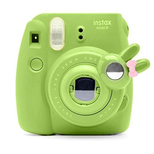Süßes Häschen Selfie und die Nahaufnahme Lens für Fujifilm Instax Mini8 Mini9 Hellokitty Instant Kamera(Hellgrün)
