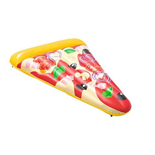 Unbekannt VARILANDO® Luftmatratze in Form eines Pizzastücks Pool-Matratze Garten-Pool Swimming-Pool Wasser-Spielzeug Pool-Spielzeug