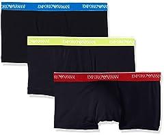 Idea Regalo - Emporio Armani Underwear 111357, Slip Uomo, Blu (Marine 40035), Large(Pacco da 3)