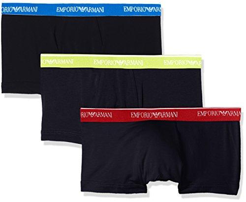 Emporio Armani Underwear Herren Hipster 1113578P717, 3er Pack, Blau (Marine 40035), Large (Knit Boxer Mens)