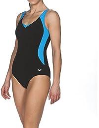 ARES5 Mujer Arena Body Lift lana C de Cup–Bañador, mujer, arena Damen Bodylift Badeanzug Lana C-Cup, black-Turquoise, 38