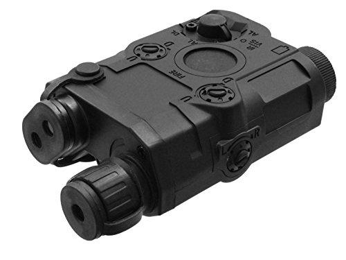 Battleaxe Softair / Airsoft Batteriebox, im PEQ15 Style, mit Weavermontage - schwarz