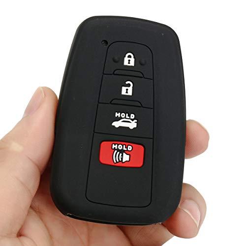 Viviance Silikon Keyfobs Protector Cover 4 Buttons Für 2018 Für Toyota Camry Smart Keyless - Schwarz (Toyota Camry Fußmatten Schwarz)