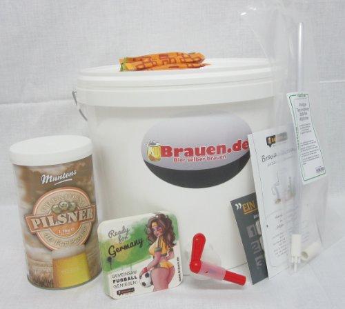 Bierbrauset Premium Pilsner - Pilsener selber brauen (10 Liter) -Ideal für Brauset Anfänger oder als Bier Geschenk, inklusive Brauanleitung