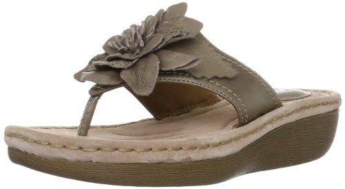 Sandali da Donna Clarks Amaya Iris6 Infradito con Fiore Colore Metallo (36)