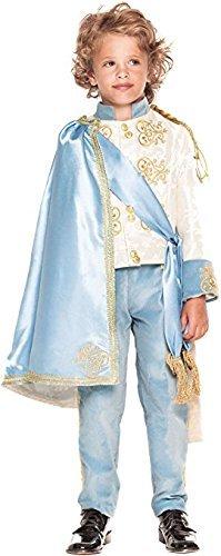 Manschette Kleid Hose (Italienische Herstellung Deluxe Jungen blau Prinz König büchertag Kostüm Kleid Outfit 3 - 10 Jahre - 9 years)