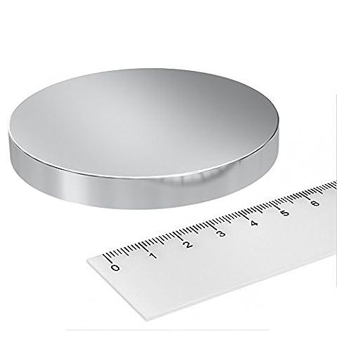 Gauss Disque super aimant en néodyme, 80x 10mm, Puissance 300kg, thérapie magnétique 4000