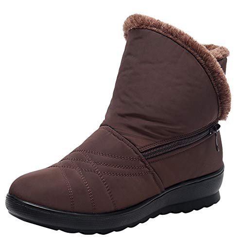 MYMYG Damen Schneestiefel Winter Wasserdichte Martin Short Schneeschuhe Schuhe warme Schuhe...