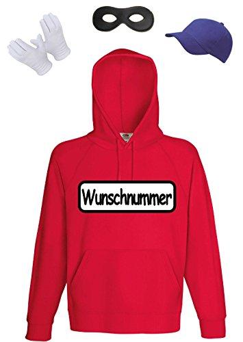 Panzerknacker Kostüm Herren Kapuzensweat - Teenager Gangster Kostüm