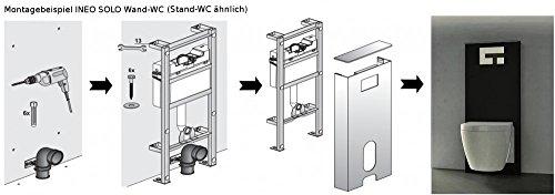 Sanit Sanitärmodul Ineo Solo Stand-WC schwarz Vorwandelement Montageelement