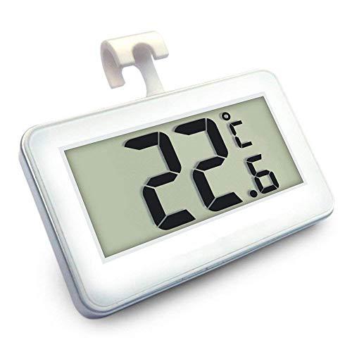 Termometri per Frigoriferi Digitale Termometro da Frigo Mini Impermeabile Congelatore Termometro con Gancio LCD Display Gaa 20℃ 60℃ Con Display