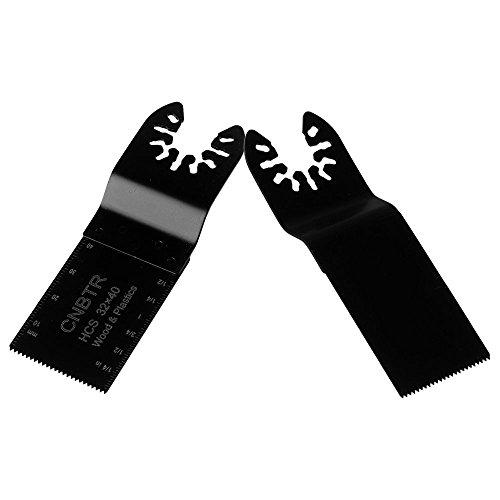 cnbtr schwarz 32x 40mm Carbon Stahl Sägeblatt Pendelndes Multitool Präzision Quick Release Sägeblätter Set von 10
