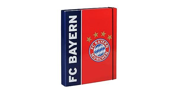 Heftebox FC Bayern M/ÜNCHEN FCB Book Box caja hefte gratis Sticker M/ünchen forever Bo/îte de livre
