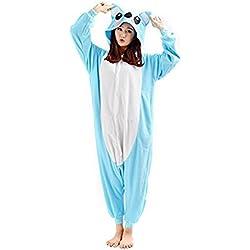 HSTYLE Adulto Unisex Mamelucos Kigurumi Pijamas Animal Trajes de Cosplay de dibujos animados ropa de dormir Azul Koala