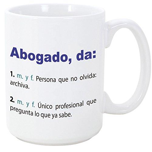 Tazas desayuno originales de profesiones para regalar a trabajadores - Tazas para abogados - MUGFFINS - Tazas con frases y mensajes alegres y divertidos