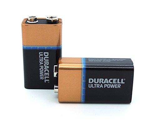 Flachbox mit 10x Duracell Ultra 9V Block Batterie 6LR61 EN22