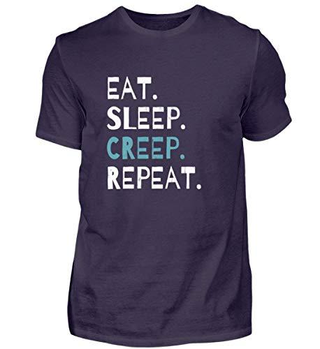 Eat Sleep Creep Repeat - An Halloween Das Wahre Gruselige schreckliche Ich Zeigen - Herren Premiumshirt