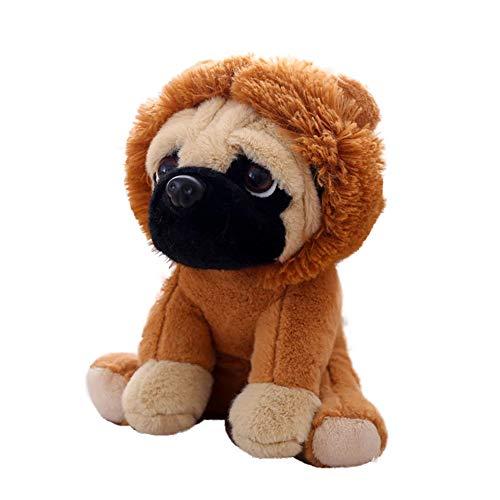 chtier Mops Hund mit Kostüm Kuscheltier 20 cm Gefüllte Puppe für Dekorieren Kinder Spielzeug Geschenke Löwe ()
