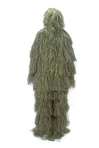 Joryn Tarnanzug 3D Ghillie Suit Softair Jagd Scharfschützen Anzug (Ghillie Anzug Kostüm Kinder)