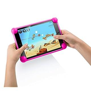 Tablet hülle tablethülle hülle für Tablet kompatibel mit Tablets in jeder Größe kompatibel mit allen Tablets des Marktes (Fuchsia)