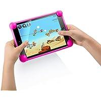 """Color Dreams® Funda tablet silicona universal. Funda silicona tablet pc compatible con cualquier tablet de cualquier tamaño. La funda ideal para tablets usadas por niños o adultos. La misma funda para todos los tamaños de tablets pc como 7"""", 8"""", 9"""", 9.7"""", 10.1"""", iPad 2/3/4/ , Ipad Air, Ipad Mini, Galaxy Tab/Tab S/Note Pro, Nexus 7, Kindle Fire HD 6/7 Fire HDX 7/8.9 Fire 2. Producto diseñado por Color Dreams®. Compatible con todas las tablets pc del mercado. (Fucsia)"""