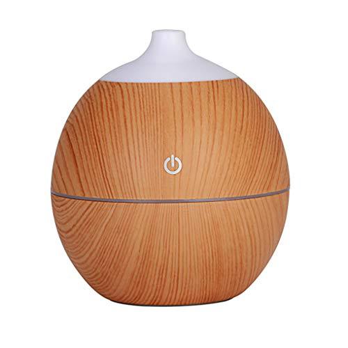 YMYJZ 130ml difusores de Aceite Esencial, difusor de aromaterapia y humidificador para su Home Office SPA con ultrasonidos Ajustables Cool Mist sin Agua Auto Shut-Off 7 Color LED,Lightwoodgrain