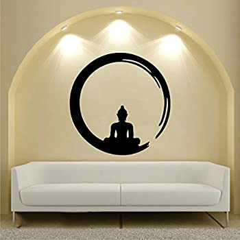 Rawpockets 'Lord Buddha Enlightment ' Wall Sticker (PVC Vinyl, 95 cm x 95cm)
