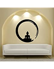 Rawpockets 'Lord Buddha Enlightment ' Wall Sticker (PVC Vinyl, 95 cm x 95cm)