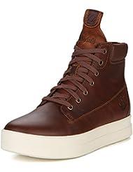 TIMBERLAND A19VF zapatos marrones botas marrones mujeres de mediana plataforma