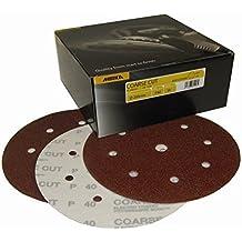 MIRKA COARSE CUT Conf. 100 discos de correas de velcro con hebiila 200 x 40 mm de diámetro, 8 agujeros